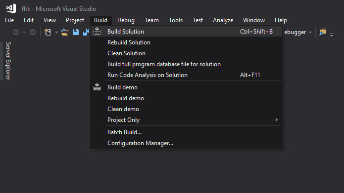 How to install and use fltk-1 3 4 in Visual Studio 2017 [complete